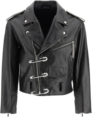 Raf Simons Biker Jacket With Safety Pin