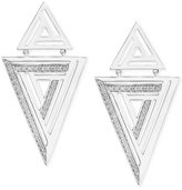 Effy Diamond Triangle Earrings (1/4 ct. t.w.) in Sterling Silver