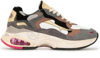 Premiata Panelled Chunky Sole Sneakers