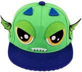 Panda Superstore Fashion Toddler Cap Green Demon Flat Cap