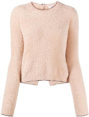Victoria Victoria Beckham Contrast-Trimmed Textured Jumper