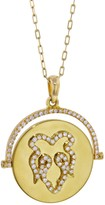 Nevernot Diamond Fig Leaf Necklace - Yellow Gold