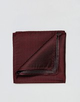 Jack and Jones Pocket Square With Spot In Red