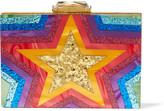 Kotur Taylor Glittered Perspex Box Clutch - Pink