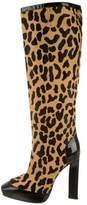 Roger Vivier Ponyhair Knee-High Boots