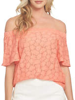 1 State Off-Shoulder Flounce Sleeve Blouse