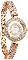 Langii Women's Bracelet Watch Rg5308b17cz Mother-of-Pearl Dial Crystal Accented Rose-gold-tone