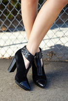 FOREVER 21 Total Stud Cutout Booties