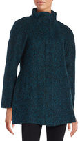 Anne Klein Wool-Blend Zip Front Coat