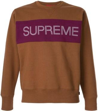 Supreme Logo Panel Sweatshirt