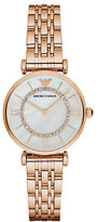 Emporio Armani Rose Goldtone Stainless Steel Link Bracelet Watch