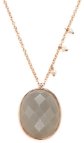 Meira T 14K Rose Gold, Gray Moonstone & Seed Pearl Pendant Necklace