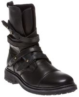 Sole New Womens Black Darcy Leather Boots Ankle Straps