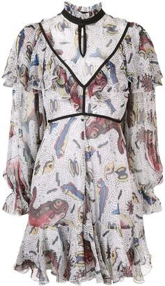 Karen Walker Selene ruffle dress