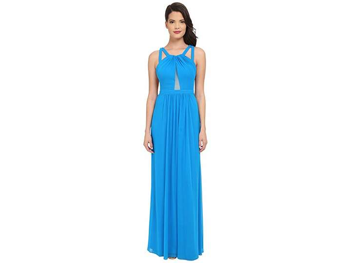Faviana Mesh Gown with Illusion Center Front 7741 Women's Dress