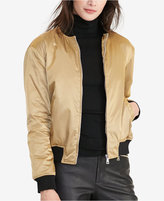 Lauren Ralph Lauren Metallic Bomber Jacket