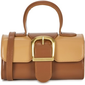 Rylan 3.19 Mini Brown Leather Top Handle Bag