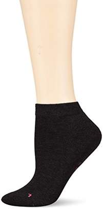 Hudson Women's AIR PLUSH Ankle Socks, 100 DEN, (Black 0005), 6 to 8