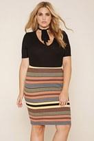 Forever 21 Plus Size Striped Midi Skirt