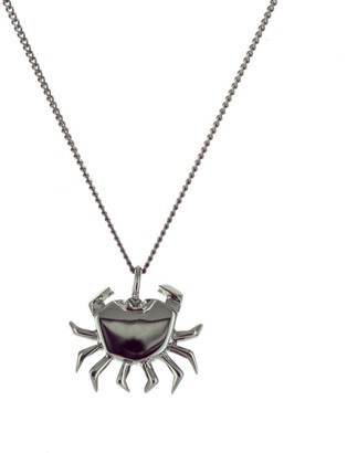 Origami Jewellery Mini Crab Necklace Gun Metal