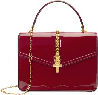 Gucci Small Sylvie 1969 Patent Leather Top Handle Bag