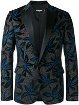 DSQUARED2 brooch pattern dinner jacket - men - Silk/Cotton/Polyester - 48