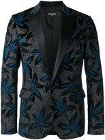 DSQUARED2 brooch pattern dinner jacket - men - Silk/Cotton/Polyester - 50