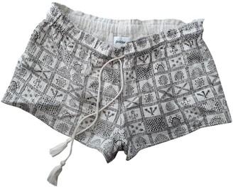 Polder Ecru Cotton Shorts for Women