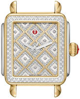 Michele Deco Diamond Two-Tone Watch Head w/ Diamonds