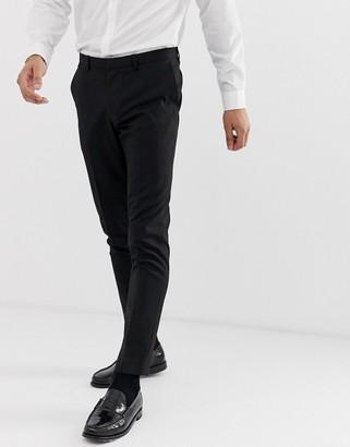 Burton Menswear wedding skinny fit suit trouser in black