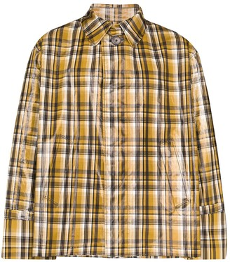 Uniforme Checked Trench Coat