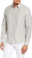 Vince Slim Fit Tonal Plaid Button-Up Shirt
