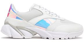 Axel Arigato Mesh-paneled Iridescent And Smooth Leather Sneakers