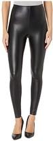 Commando Faux Leather Moto Leggings SLG13 (Black) Women's Casual Pants