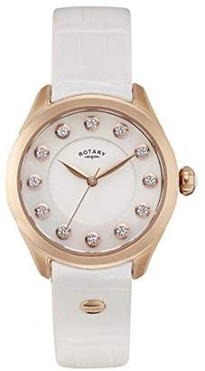 Rotary Womens Analogue Classic Quartz Watch with Leather Strap LS012/W/41