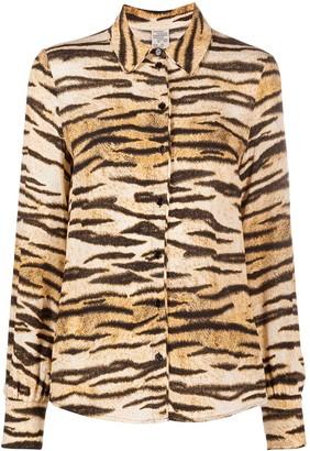 Baum und Pferdgarten Tiger-Print Shirt