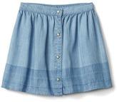 TENCEL dip-dye flippy skirt