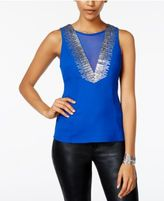 XOXO Juniors' Embellished Illusion Top
