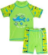 BAOHULU Boys' Short Sleeve Separate UV Sun Protection Swim Set