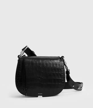 AllSaints Polly Round Leather Crossbody Bag