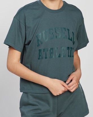 Russell Athletic Arch Logo Crop Tee