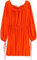 Michael Kors Draped Silk Dress