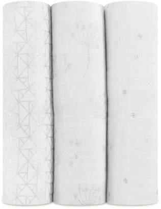 Aden Anais Aden + Anais Silver Deco Swaddles (Set of 3)