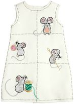 Dolce & Gabbana Mice Embellished Wool Crepe Cady Dress