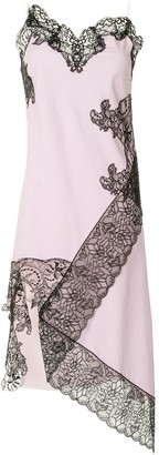 Marques Almeida Lace Neckline Slip Dress