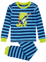 Petit Lem Jurassic Rock 2 Piece Stripe Pajama Pants Set