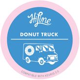 HiLine Coffee 10-Count Medium Roast Donut Truck Pods for Single Serve Coffee Makers