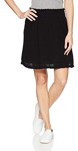 Women`s Double Gauze Loose Short Skirt