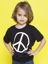 Peace Love World I am Peace® Black Toddler Fine Jersey Short Sleeve Tee