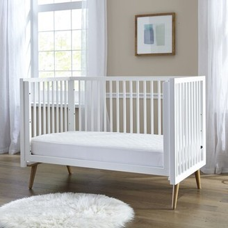 Sealy Stain Protection Waterproof Fitted Standard Crib Mattress Pad
